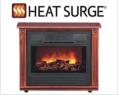Heat Surge Amish Electric Fireplaces available at Abbott's Vacuum Center in  Nampa, Idaho - Zone Heaters — Abbott's Vacuum Center - Nampa, Idaho